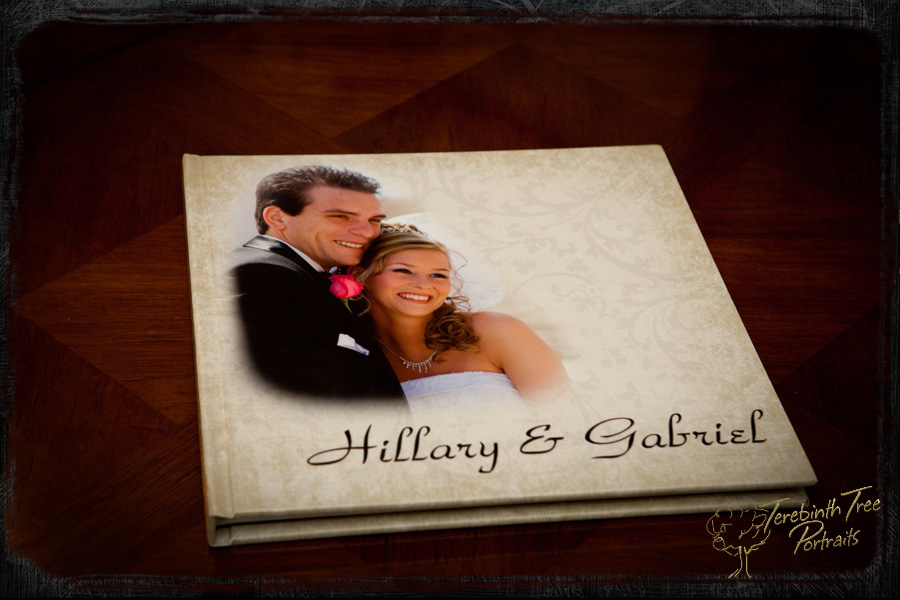 Custom flush mount wedding album